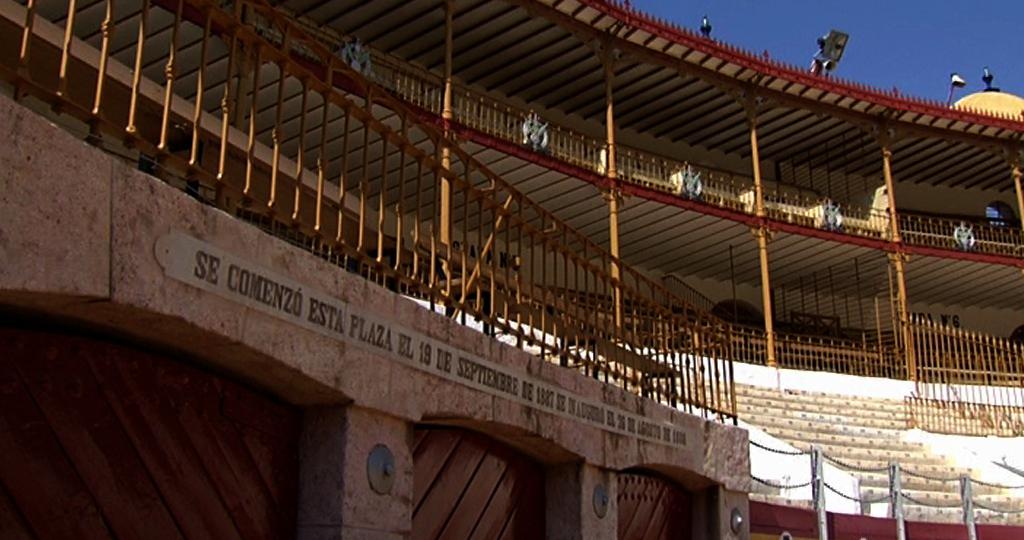Detalle plaza de toros de Almería