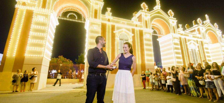 Encendido de la Portada de Feria de Almeria 2018